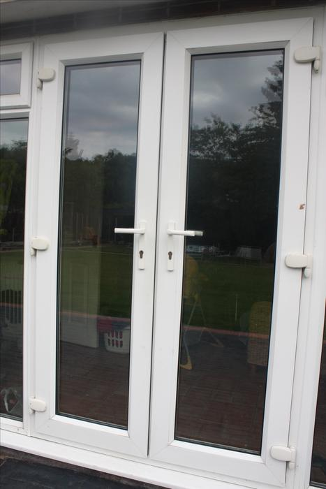 White upvc double french doors halesowen dudley for White double french doors