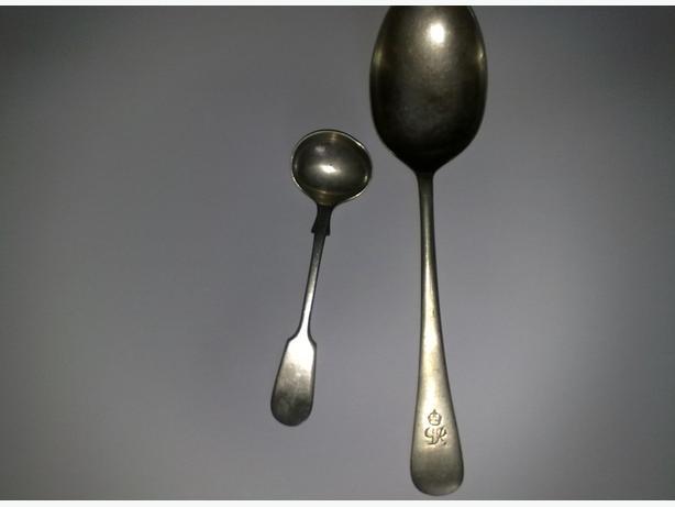 3 vintage spoons & fork