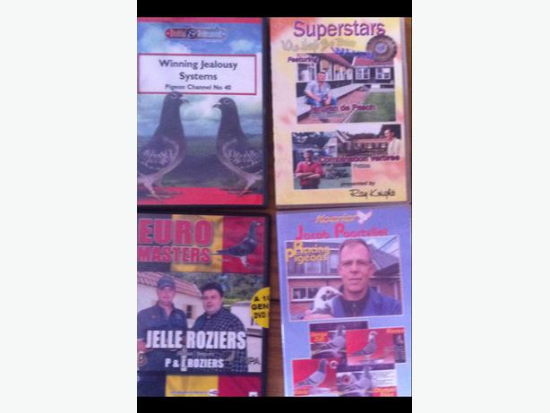 Racing pigeon DVDs x4