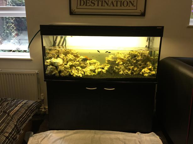 how to make a 4ft fish tank stand