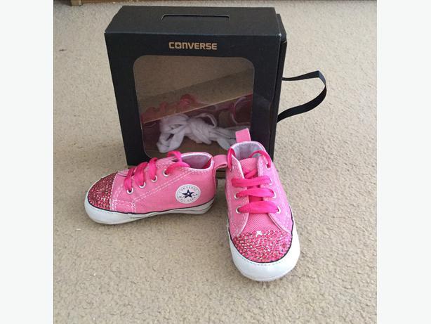 baby pink converse crib shoes sandwell wolverhton