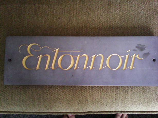 QUALITY THICK SLATE HOUSE NAME PLAQUE SIGN