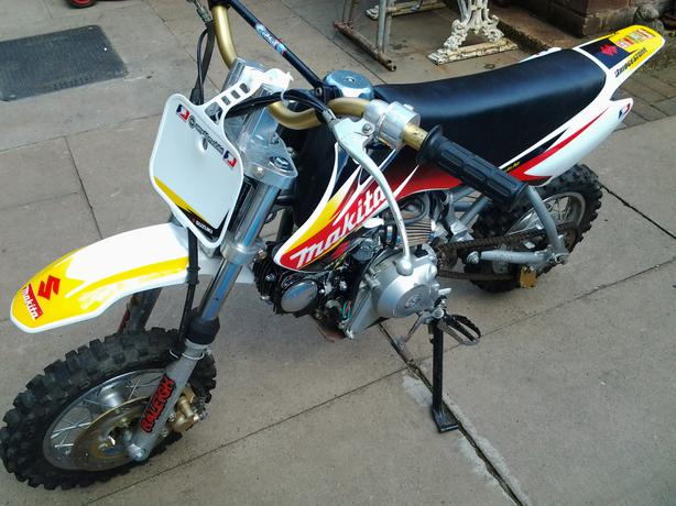 pitbike 110 cc suzuki makita graphics coseley  sandwell pit bike suzuki 140 suzuki rm85 pit bike
