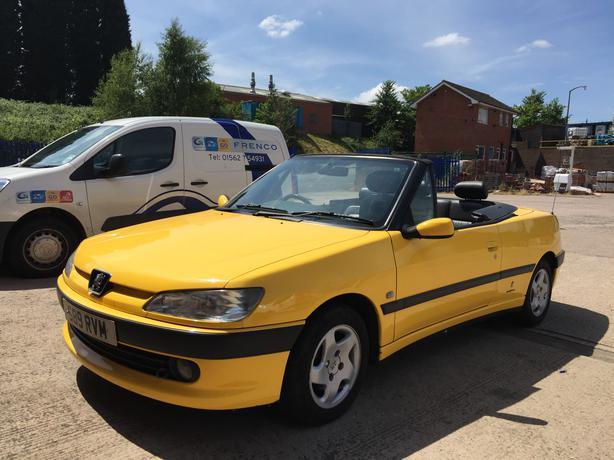 peugeot 306 cabriolet convertible soft top automatic yellow stourbridge sandwell. Black Bedroom Furniture Sets. Home Design Ideas