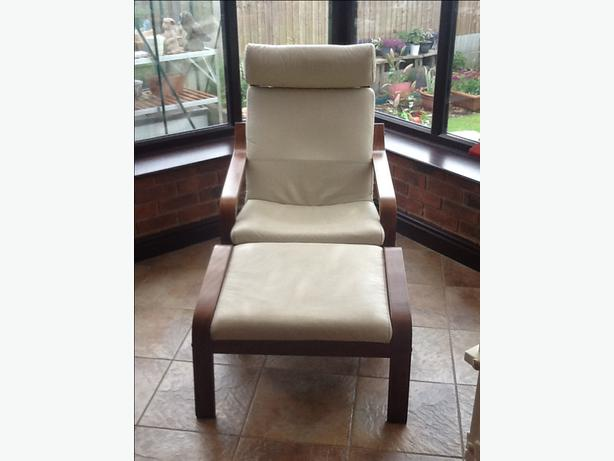 Ikea Trones Cipősszekreny Eladó ~   Log In needed £40 · IKEA CREAM LEATHER POANG CHAIR AND FOOTSTOOL