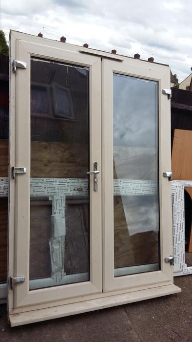 Cream french doors bilston sandwell for Cream french doors