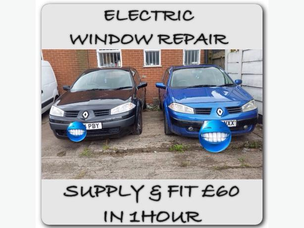 RENAULT MEGANE ELECTRIC WINDOW REPAIR SUPPLY & FIT