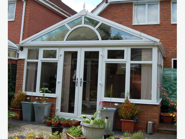 Conservatory Gable Ended With Self Cleaning Active Blue