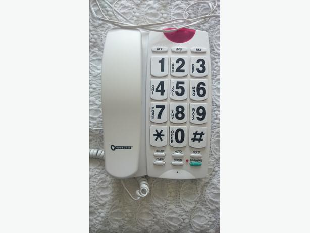 wired telephone with big buttons