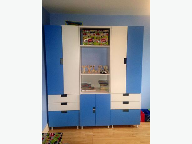 Ovno POSSIBLE DELIVERY Ikea Stuva Wardrobe Blue White