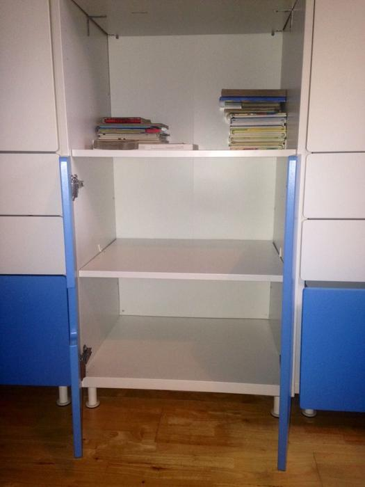 ovno possible delivery ikea stuva wardrobe blue white childrens kids toddler bilston sandwell. Black Bedroom Furniture Sets. Home Design Ideas