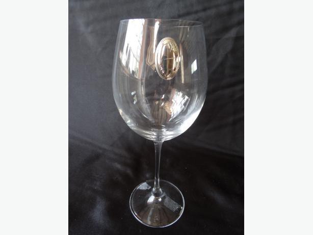 Designer wine glass with silver hallmarked outside black Designer wine glasses uk