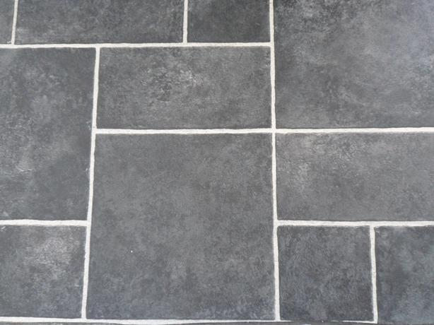 Grey tile effect vinyl flooring wolverhampton dudley for Grey tile effect vinyl flooring