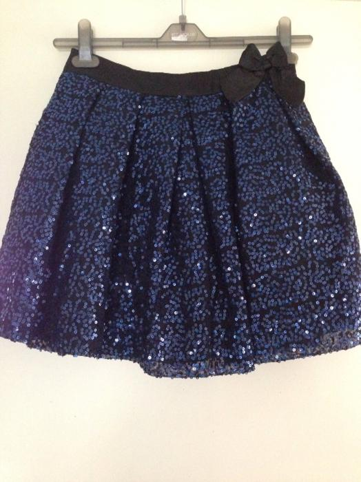 black and blue sequin skirt size 11 12 dudley dudley