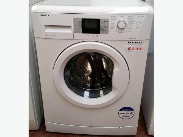 beko 7kg 1600 spin washing machine warranty darlaston. Black Bedroom Furniture Sets. Home Design Ideas