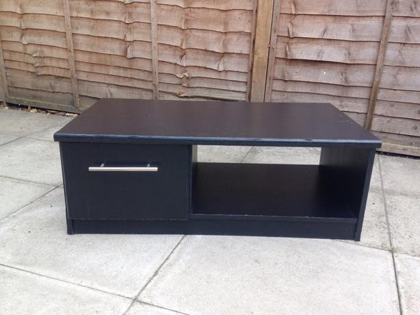 Black Coffee Table With Drawer Dudley Sandwell