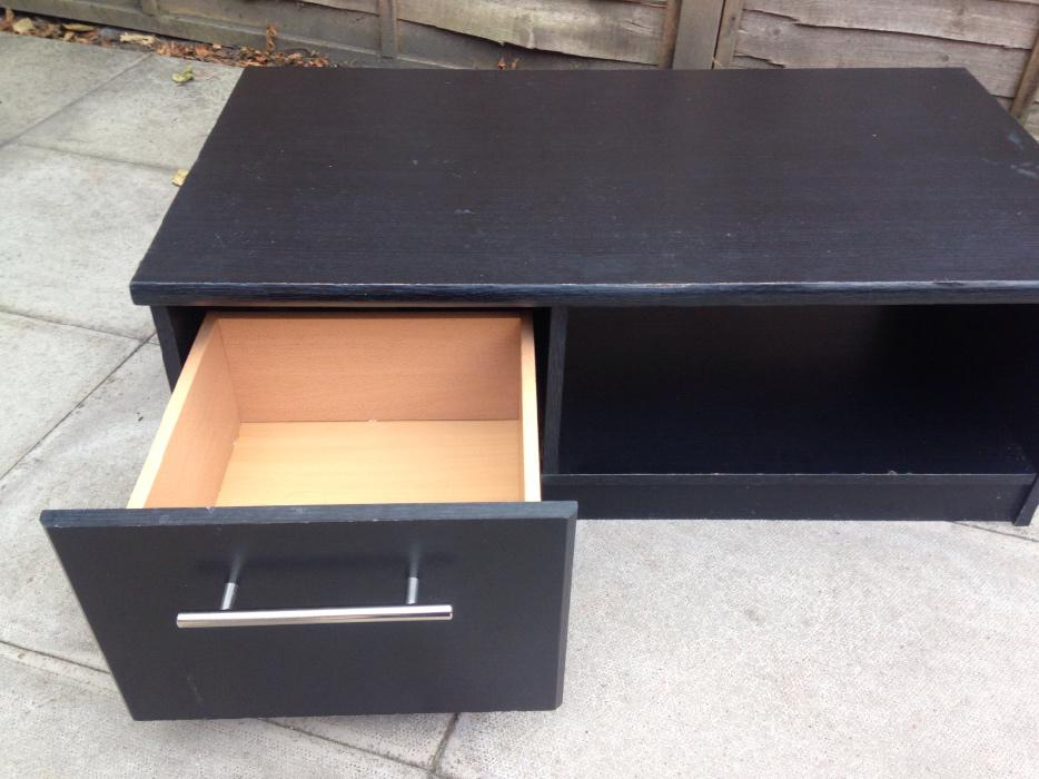Black coffee table with drawer dudley walsall for Black coffee table with drawers