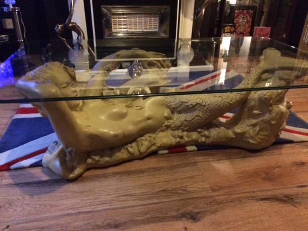 Gorgeous glass mermaid coffee table just sold rowley regis dudley Mermaid coffee table