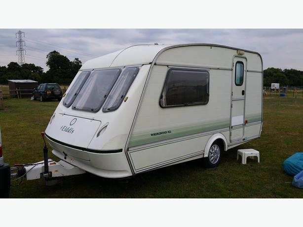 ELDDIS WHIRLWIND XL 2 BERTH CARAVAN WITH FULL AWNING ...