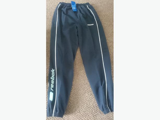 brand new with price tag mens small cuffed reebok tracksuit bottoms