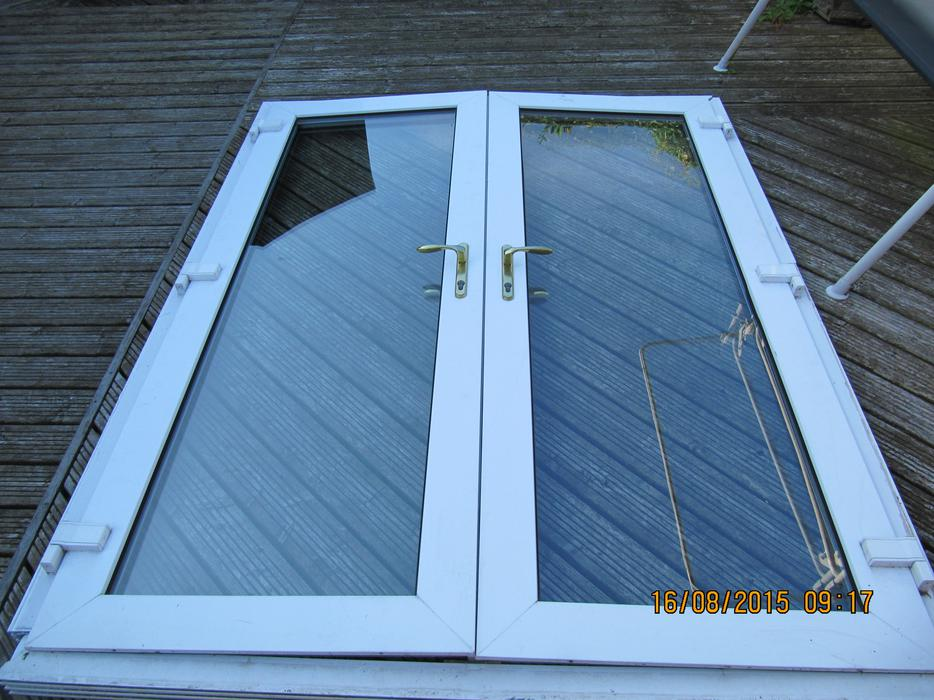 Upvc french doors used outside black country region for Upvc french doors black