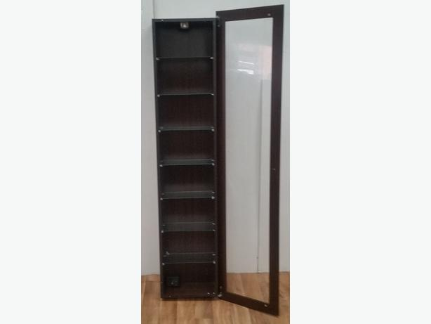 brown mahogany glass display cabinet 1 door lots of. Black Bedroom Furniture Sets. Home Design Ideas