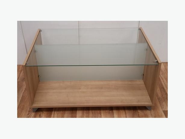 Oak Coffee Table Glass Willenhall Dudley
