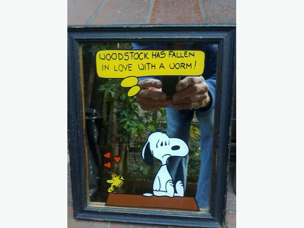 2 mirrors  1snoopy & woodstock   1 mylven the duck