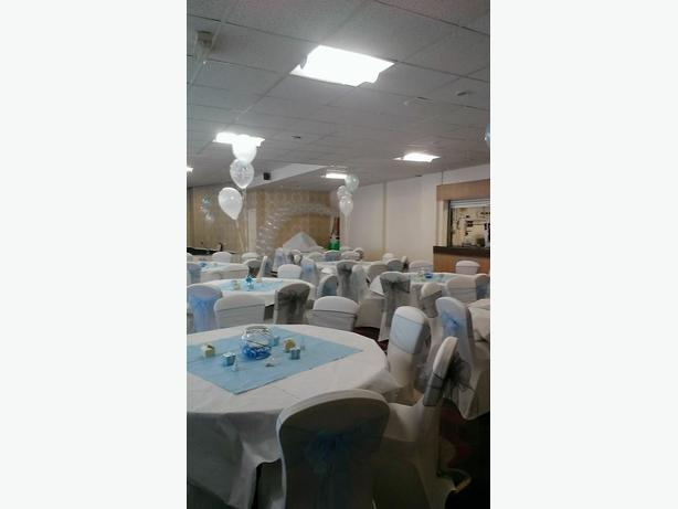 balloons,columns and chair covers available