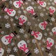 CHRISTMAS CELLOPHANE IN SNOWMAN AND SNOWFLAKE DESIGN 2.5X80Ccm or 20MX80CM