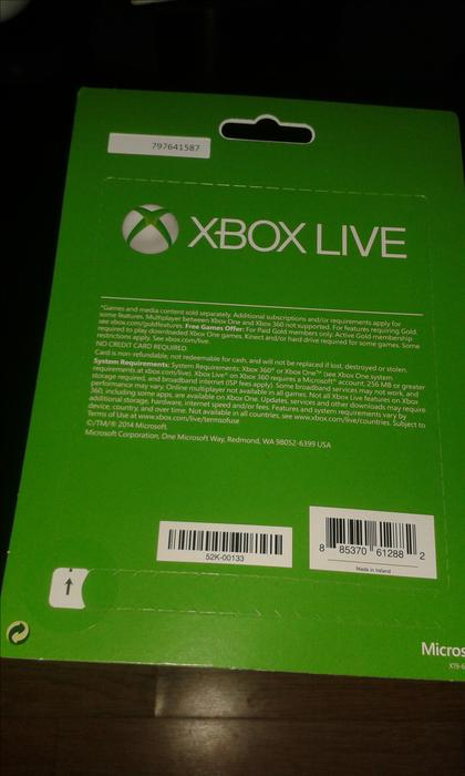 Xbox Live Gold 3 Months Unopened Wolverhampton Wolverhampton