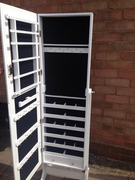 White stand up mirror with jewellery storage wednesfield for White stand up mirror