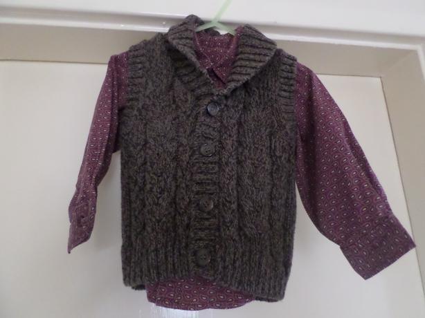 Boys Shirt & Cardigan Set 12-18 months