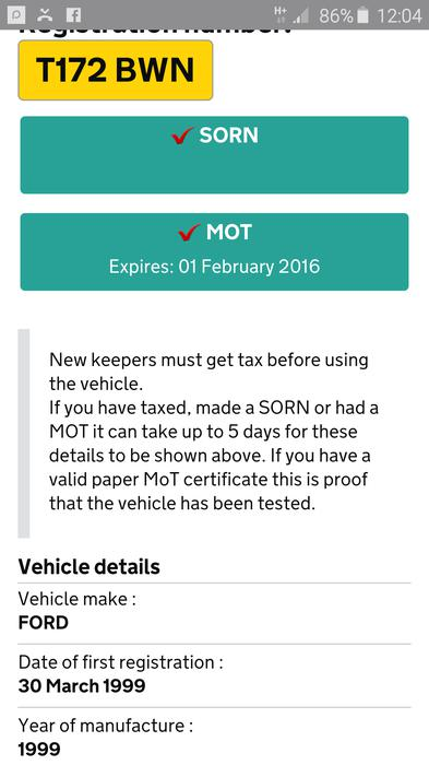 ARCHIVED CONTENT] Check your vehicle's MOT status and history online ...