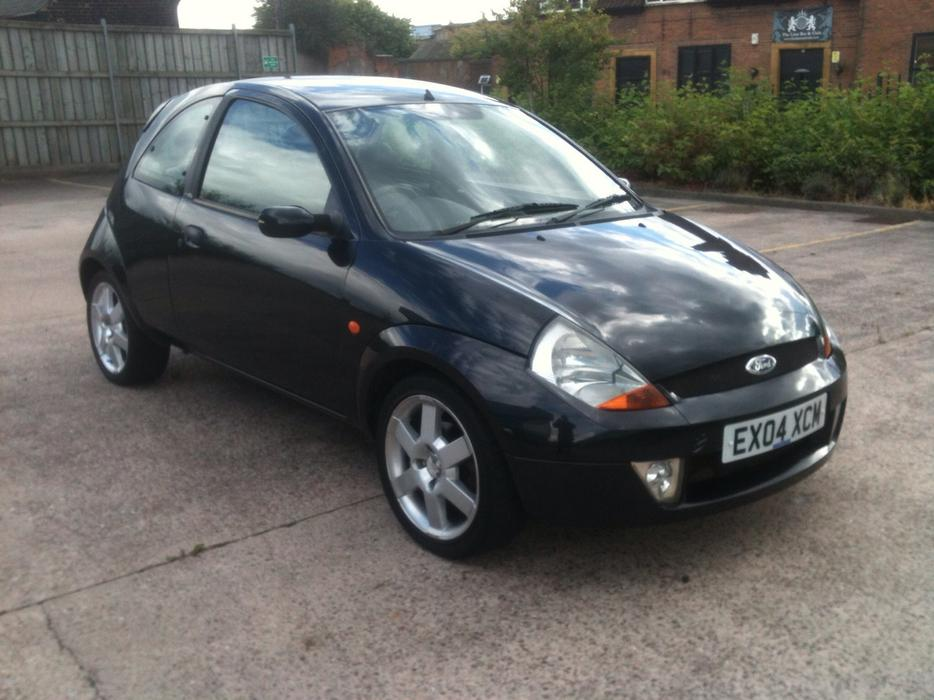 ford ka sport 2004 model black full leather seats walsall sandwell. Black Bedroom Furniture Sets. Home Design Ideas