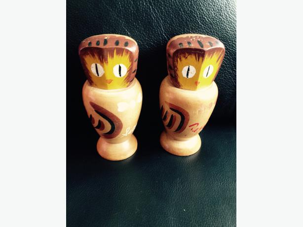 Decorative Owl salt and pepper pots