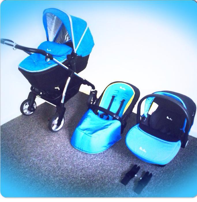 silver cross wayfarer complete blue system inc car seat walsall wolverhampton. Black Bedroom Furniture Sets. Home Design Ideas
