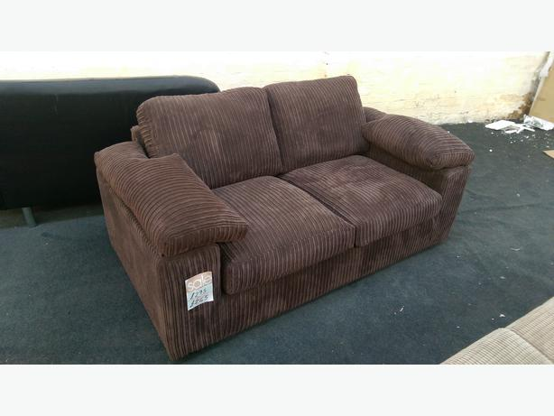 brand new riva jumbo cord 2 seater sofa in brown