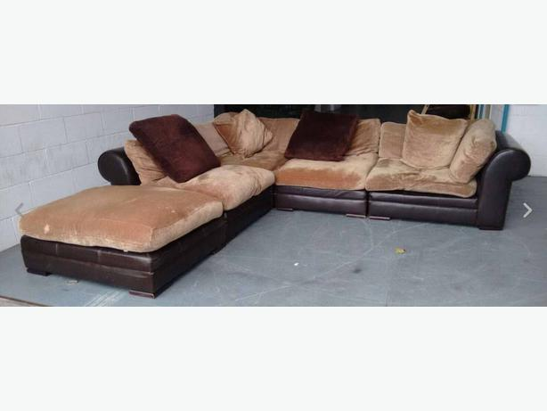 Huge Dfs Hemingway Changeable Leather Fabric Corner Sofa We Deliver