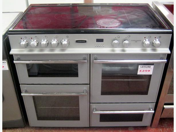 Leisure Silver Cuisine Master 100 Electric Range Cooker