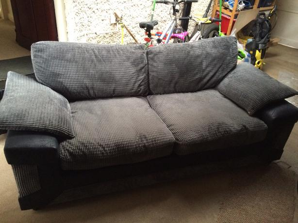 Black and grey sofa for sale wolverhampton sandwell for Black and grey sofa