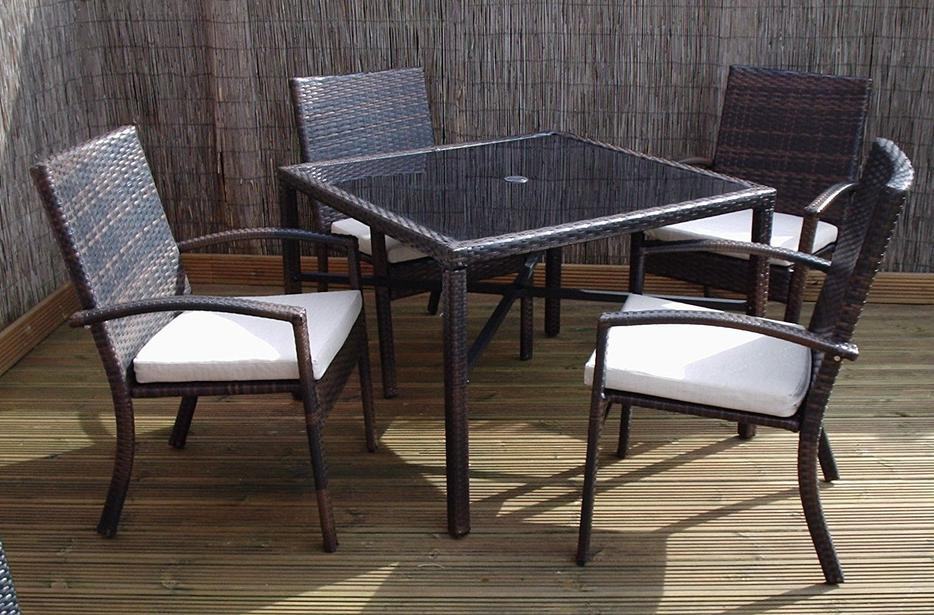 Rattan Garden Furniture Dining Table And 4 Chairs Dining