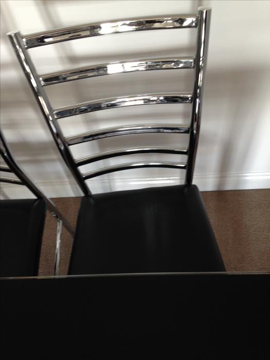 Black Glass Dining Table amp 4 Chairs Bloxwich Wolverhampton : 104778156934 from www.usedwolverhampton.co.uk size 525 x 700 jpeg 32kB