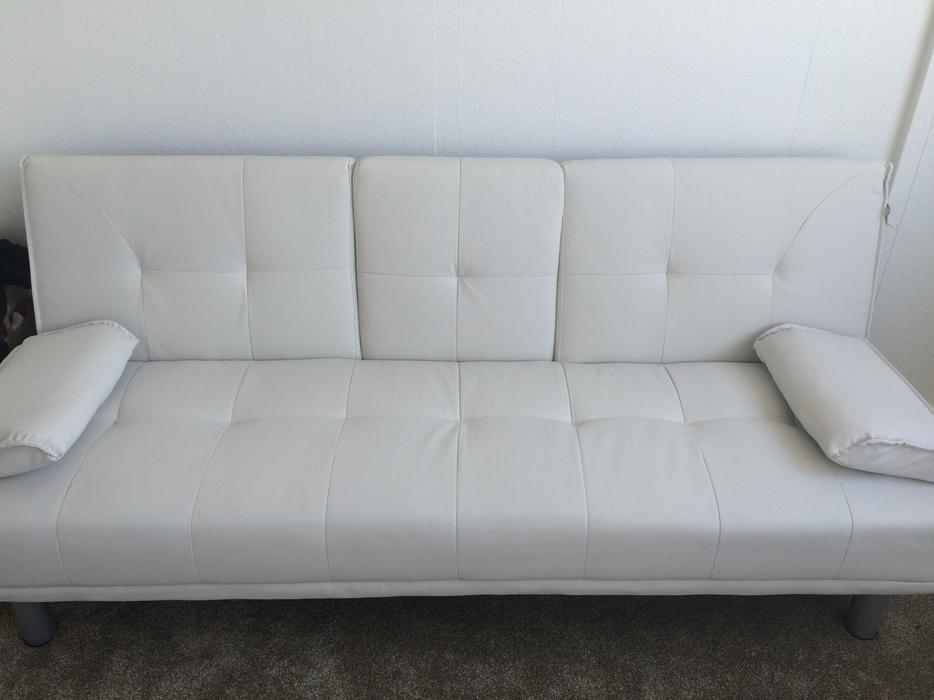 sofa bed white leather sofa walsall dudley. Black Bedroom Furniture Sets. Home Design Ideas