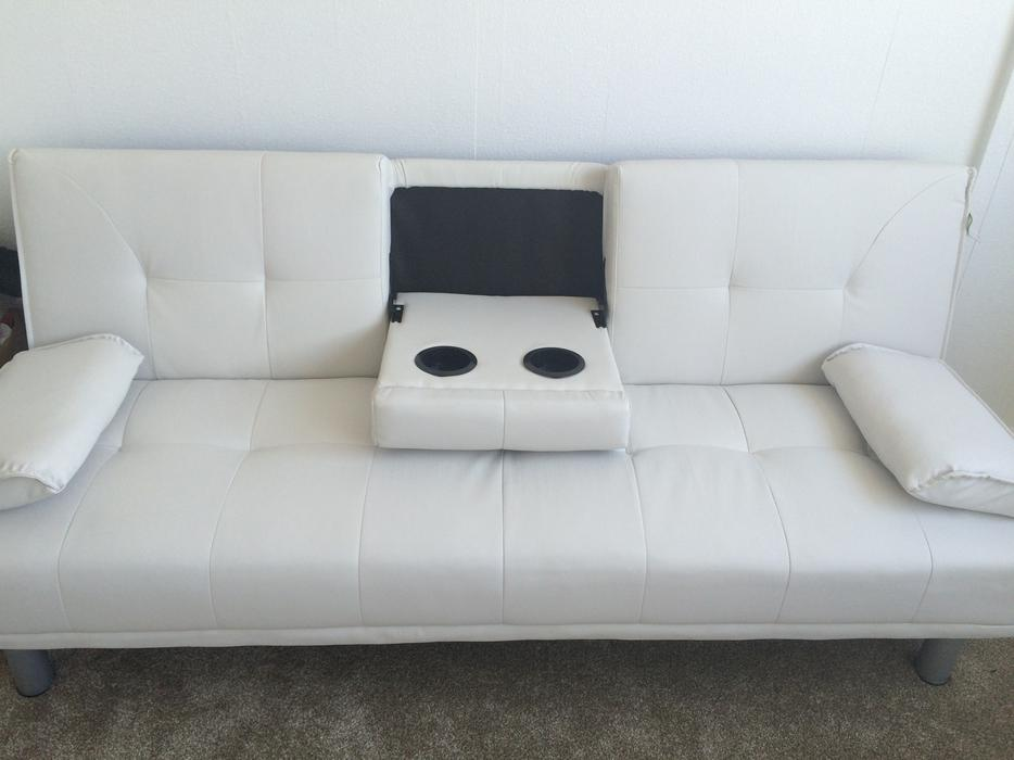 Sofa bed white leather sofa walsall dudley for White sofa bed uk