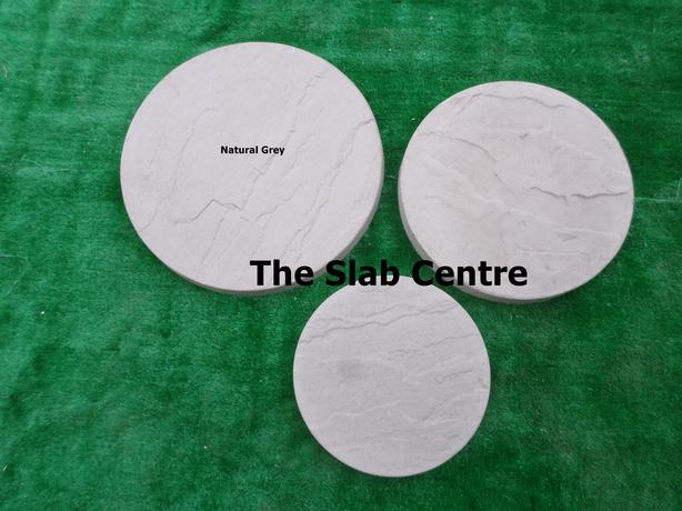 New Concrete Riven Circle Stepping Stones