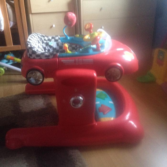 Elc Walker/first Steps Car + Lamaze Tummy Time Spin And