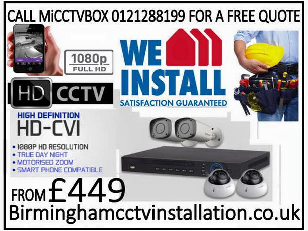 HD DIGITAL CCTV INTALLATION EX ADT ONLY 449