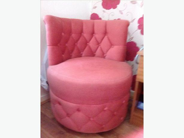 pink draylon bedroom chair bloxwich wolverhampton