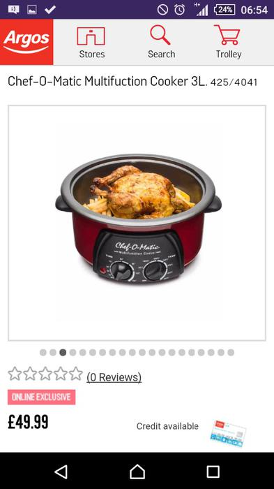 Chef o matic 3l 12 in 1 cooker slow cooker bilston dudley - Chef o matic carrefour ...